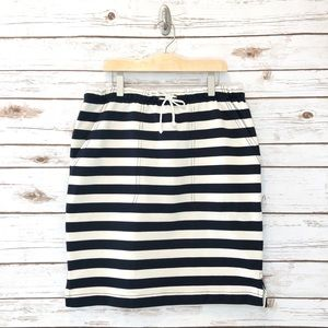 J. Crew • Drawstring Striped Skirt